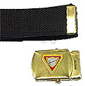 GOLD  PF WEBBELT FULL COLOR BUCKLE / BELT OPTION