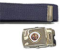 Choose Old or New NAD Adv full color silver webbelt buckle - belt option