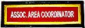 ASSOC  AREA COORDINATOR TITLE STRIP - RED / WH