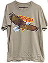 BIG EAGLE PF T-=SHIRT -ON 8 SHIRT COLORS