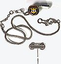 Silver NEW ADV Deluxe Whistle - Chain & Engravable Hook Holder