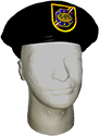 NEW MG6R BLACK BERET