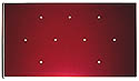 Adv maroon 9 hole blank pin plate 3/4/2