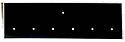 7 HOLE Black Blank Pin Display Plate 1 /6