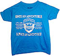 Once An Adventurer Always An Adventurer - Sapphire Shirt - silver glitter logo