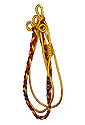 Citation Cord - Red & Gold twist , 2 Gold loops strand gold tube