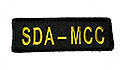 "Black Twill SDA-MCC Strip--------- 1 1/2"" X 5""- Above Left Pocket"