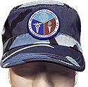FLAT TOP CAP - WITH PATCH - BLUE CAMO