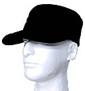 FLAT TOP BLANK CAP -BLACK OR   FL CONF NAVY