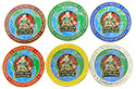 FF2014 -6 class ring colored PIN SET- with pf in many languages