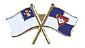Pathfinder flag / Christian Flag Pin