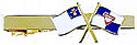 PATHFINDER & CHRISTIAN FLAG - GOLD TIE CLIP