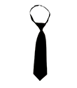PF Boys Velcro Tie   with or without PF triangle- BLACK