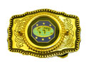 Master Guide 6 Star Gold  OR Silver Leather Belt Buckle