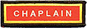 PF Sleeve Special Title Strip - Chaplain