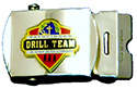 Silver Drill Team Web Belt Buckle