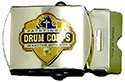Silver Drum Corps Web Belt Buckle