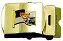 Gold Pathfinder Flag Web Belt Buckle