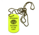 Pf soldiers of the light Glow in the dark Dog tag - or keychain