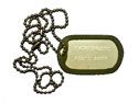 Black/Silencer Embossed God's Army Pathfinder Dog Tag
