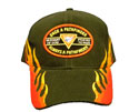 Flame Black Cap  - Once A PF Always a PF - red edge