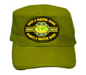 Flat top cap -  Olive Green - OMAM-Black