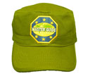 Flat top Cap- Olive Green - Mg-6 Word
