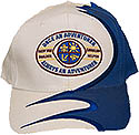 Cap - Wh/Rb Swirl - O A A A or Adv club Logo
