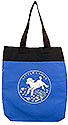 Little Lamb Two Color Kid's Totebag - Black and Blue