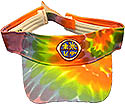 Visor - Orange Tyedye - Adv Logo