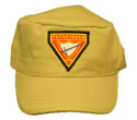 Flat-Top Cap -PF Club - Khaki Tan- many logo choices