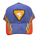 Cap - Royal /Flames - Pf Club