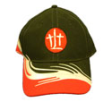 Baseball Cap - TLT - Black/Red/White Stripes