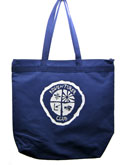 CHOOSE THE OLD OR NEW ADV LOGO-  ADV-1 color Large Zip top tote bag - Navy