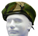 Gr Camo-Blank Beret Wool Leather Draw Cord- $12.00  BLANK or with 13 applied patch options