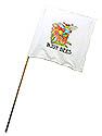 White Guidon Flag with Busy Bee Logo