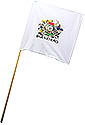 White Guidon Flag with Builders Logo