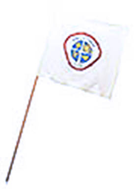White Guidon Flag with Adventurer Club-3 Logo