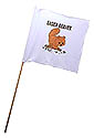 White Guidon Flag with Brown Eager Beaver Logo