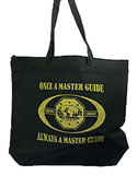 Large Zip top black tote bag - OMAM- metalic gold