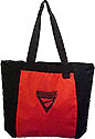 Two Tone Red & Black Pathfinder Triangle Zippered Tote Bag