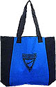 Two Tone Blue & Black Pathfinder Triangle Zipperd Tote Bag