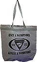 Large Zip top gray totebag - OPAP-black