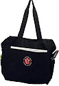 Top zipperd Tote bag / Computer black bag - TLT embroidered logo