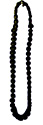 Black Braided Shoulder Cord