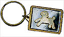 White Little Lamb Key Chain - Black