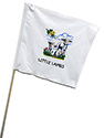 White Guidon Flag with Little Lamb-3 Logo
