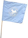 Lt Blue Mini Flag / White Little Lamb Logo