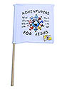 White Mini Flag - ADV For Jesus Logo