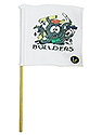 White Mini Flag - Builders Logo